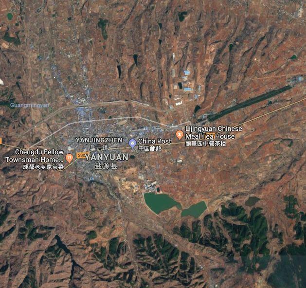 Yanyuan today Google Digital Earth photo